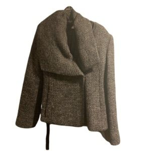 Armani Collezioni Tweed Coat grey size Medium